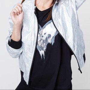 NWT Rachel Roy Heart Graphic Tee T Shirt Top XS